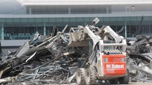 bobcat, skid steer loader, bobcat, skid steer in demolition